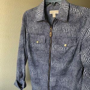 Zipper blouse